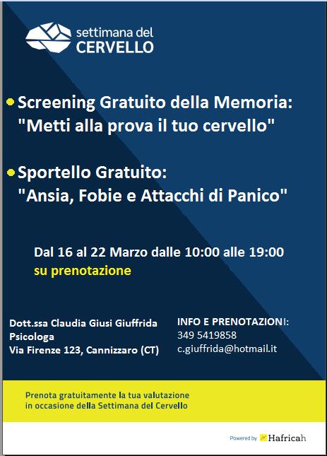 Psicologo Catania eventi gratuiti